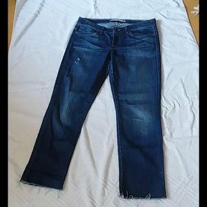 Joe's Jeans, mid rise slim crop, medium indigo